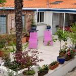 Le jardin et sa terrasse